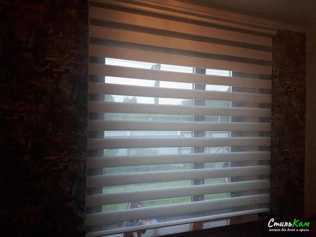 классические рулонные шторы зебра день-ночь