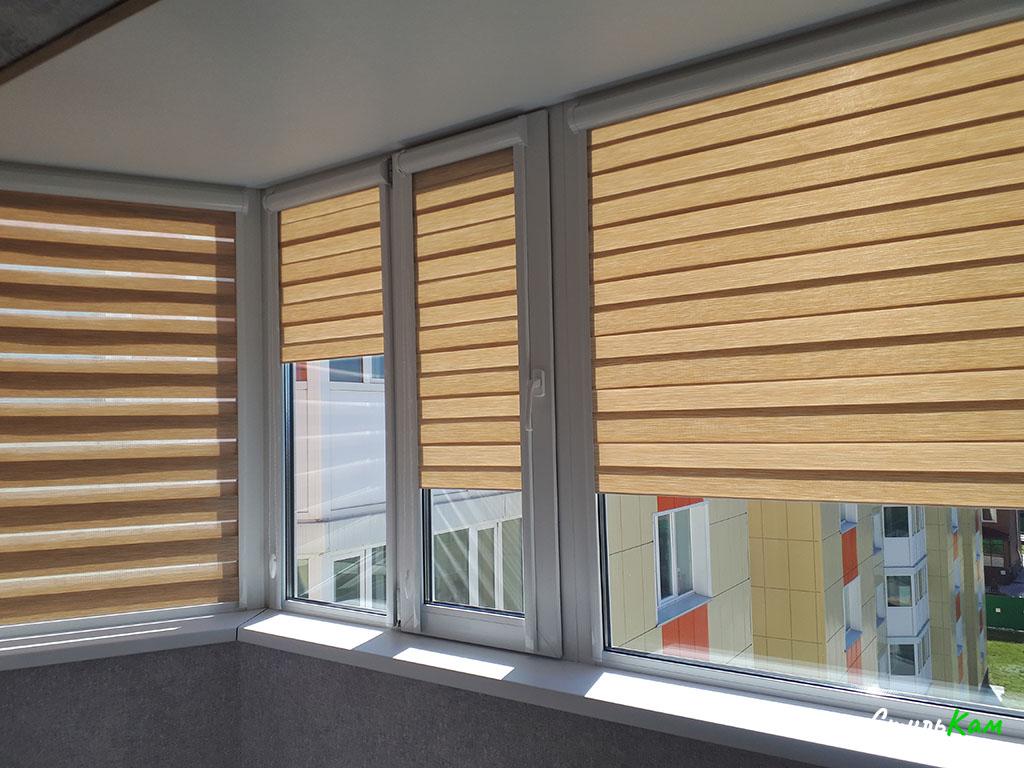 рулонные шторы день-ночь на балкон