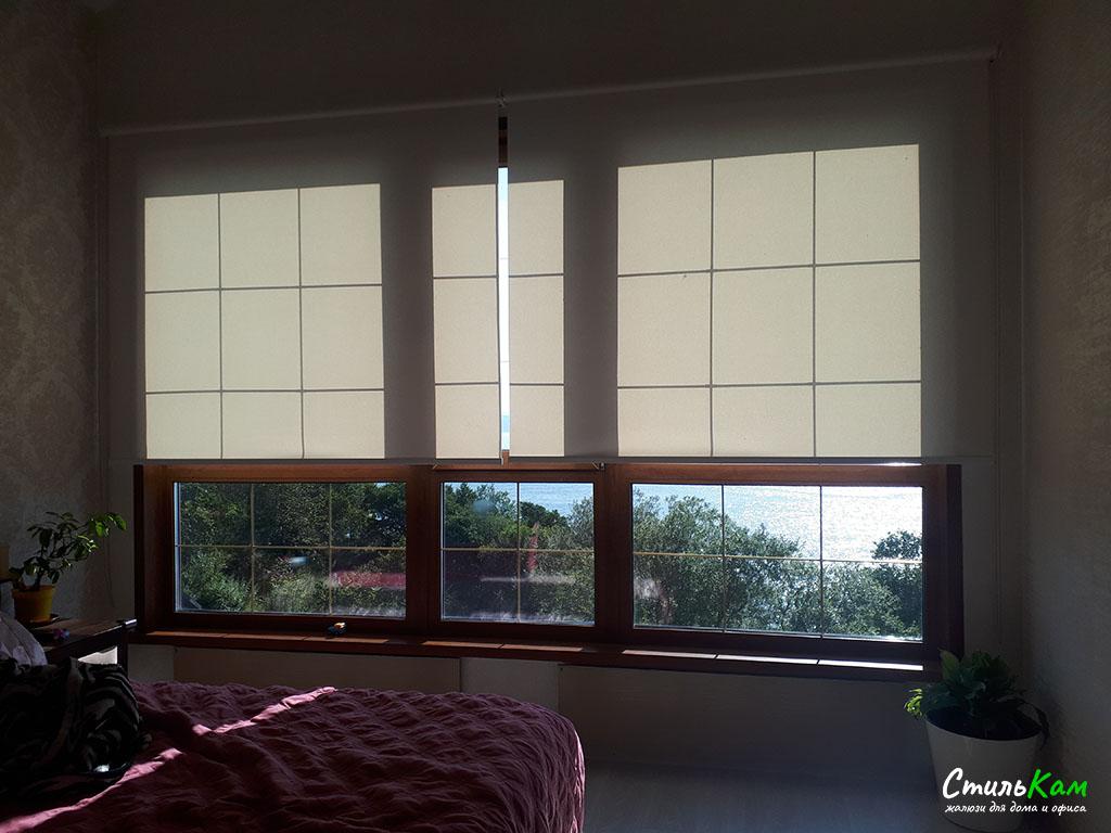классические рулонные шторы свободновисящие