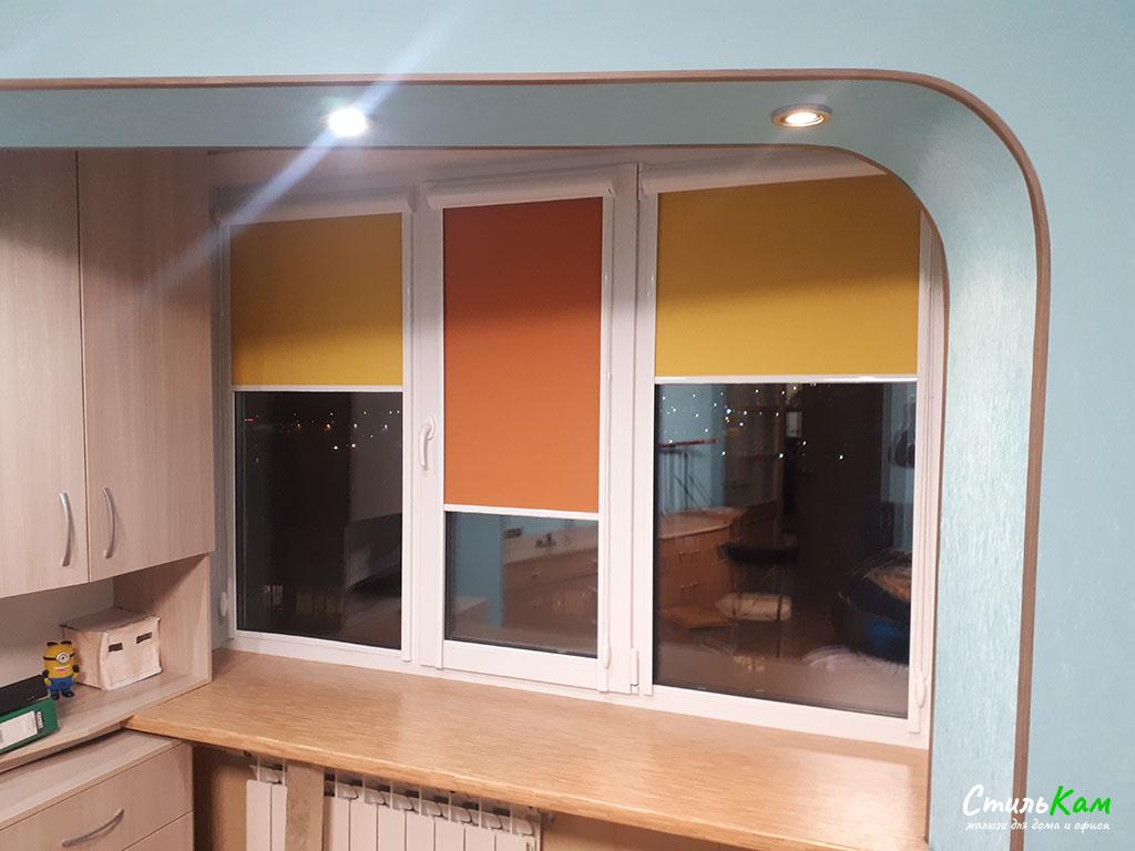 рулонные шторы uni в детской комнате
