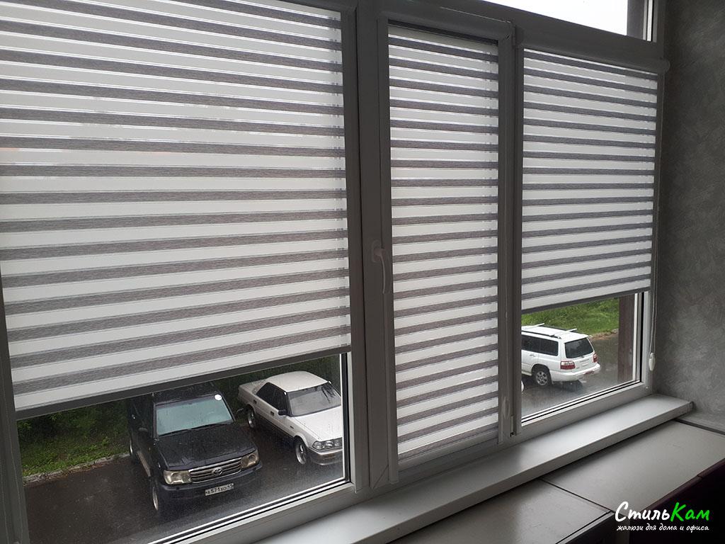 рулонные шторы uni полосатые