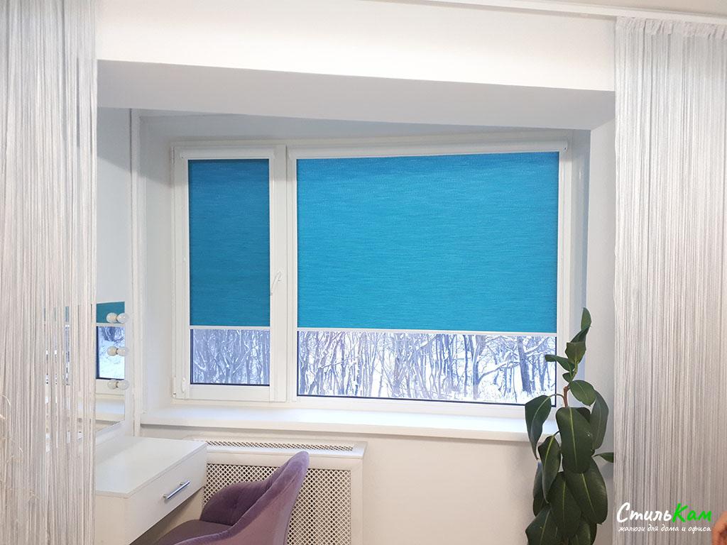 рулонные шторы uni синие