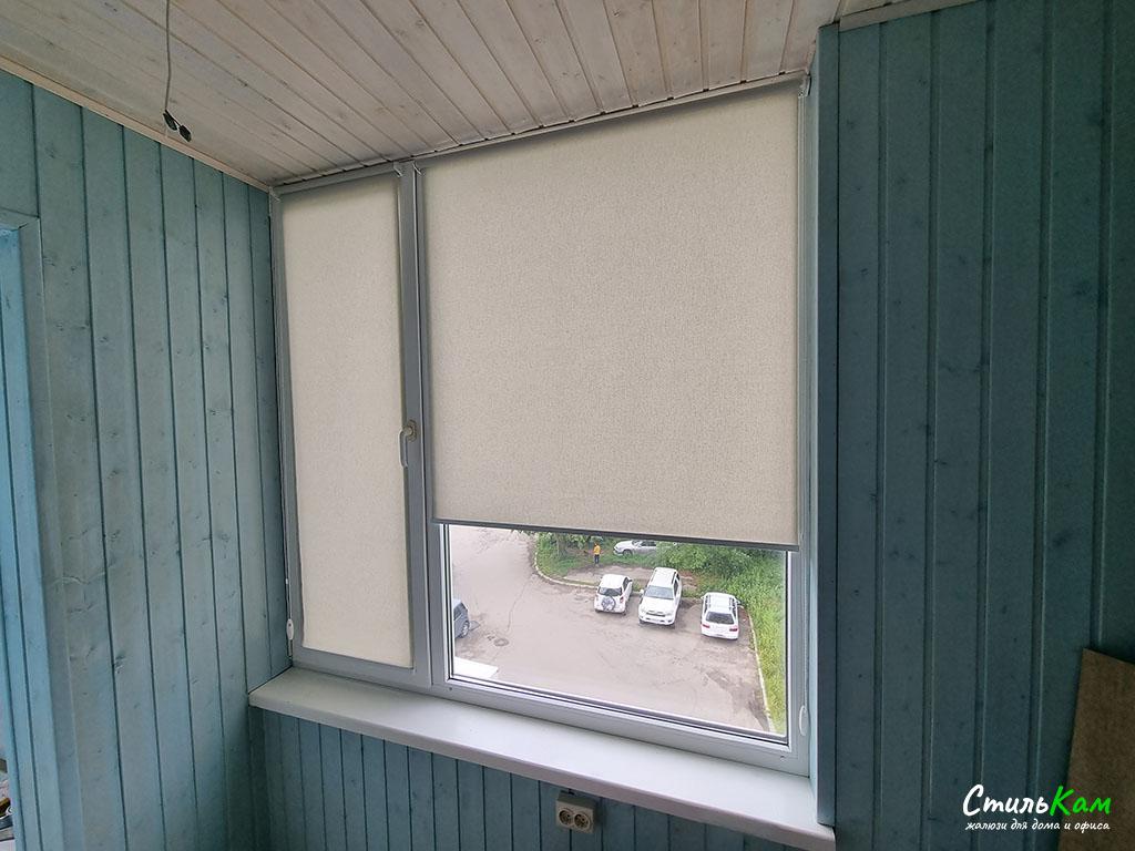 рулонные шторы мини на балкон